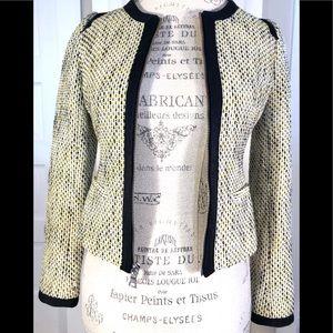 Banana Republic Tweed Zip Front Jacket